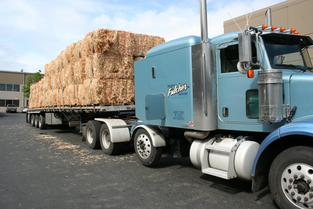Truckload of WoodStraw