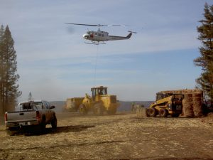 Helicopter WoodStraw Application