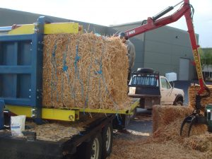 Square Bales of Woody Biomass
