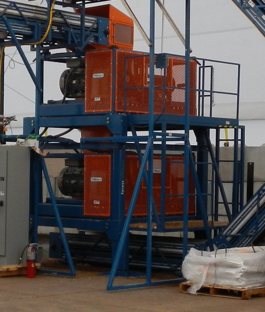 Two Crumbler Modules in a Tower Arrangement