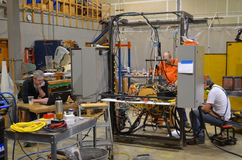 Cubical Triaxial Tester Biomass Handling Measurement