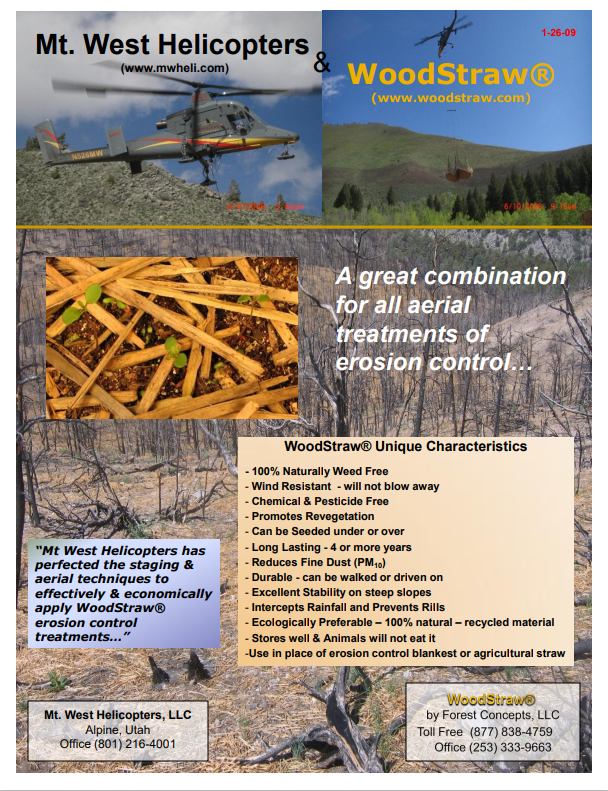WoodStraw Helicopter Application Brochure