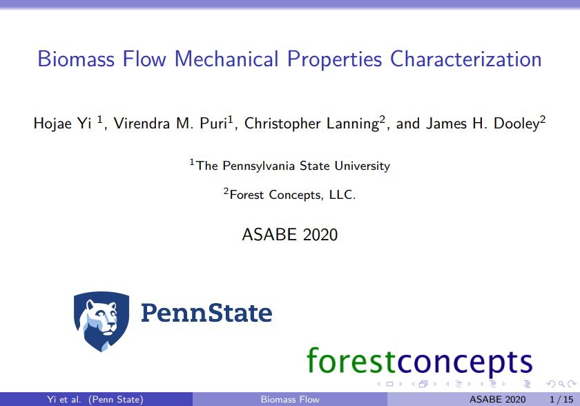 Biomass Flow Characterization through CTT