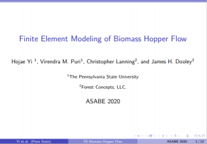 Finite Element Modeling of Biomass Hopper Flow